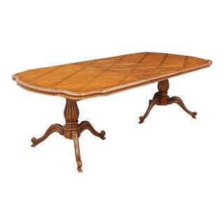 Provincial Double Pedestal Table