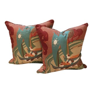 Custom Schumacher Pillows - A Pair