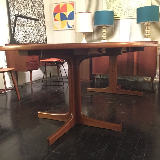 Solid Teak Table With 2 Leaves by J. O. Carlsson - Image 6 of 10