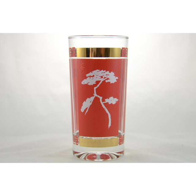 Red & Gold Chinoiserie Glasses - S/4 - Image 4 of 6