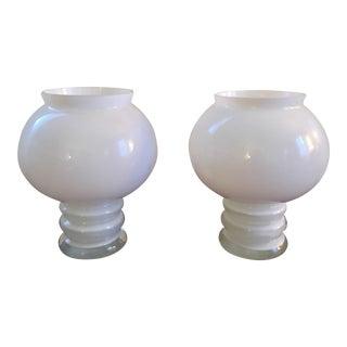 Mid-Century Scandinavian Art Glass Vases- A Pair