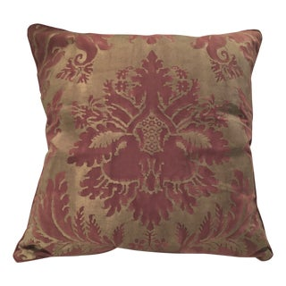 "Fortuny ""Glicine"" Red & Gold Pillow"