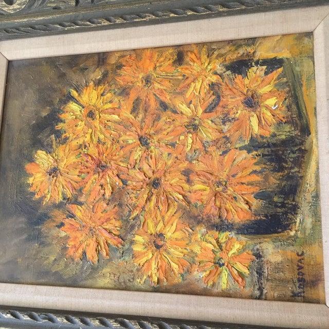 Image of Vintage Framed Still Life Oil Painting