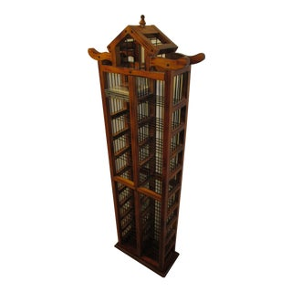 Asian Pagoda Shaped 200-Piece CD Organizer Shelf