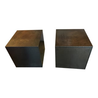 GUS Hot Rolled Steel Cube Side Tables - A Pair