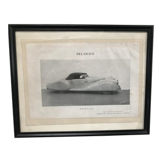 Original Framed Ad for Delahaye Automobile