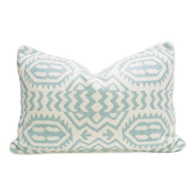 Kashmiri Native Tribal Turquoise Pillow - Image 2 of 3