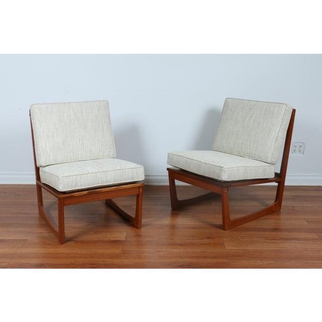 Jacob Kjaer Modern Lounge Slipper Chairs A Pair Chairish