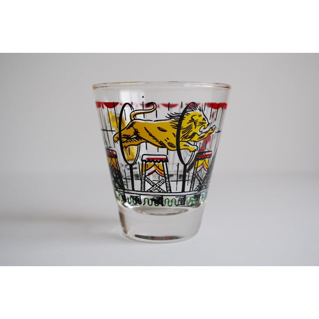 Vintage Circus Theme Whiskey Glasses - Set of 8 - Image 9 of 11