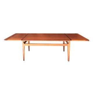Mid-Century Danish Walnut Rosewood Coffee Table