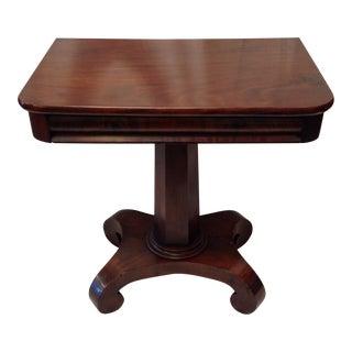 Antique Oak Empire Side Table