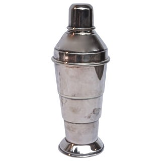 Art Deco English Silver Cocktail Shaker