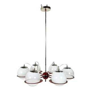 Space Age Red Italian Chandelier