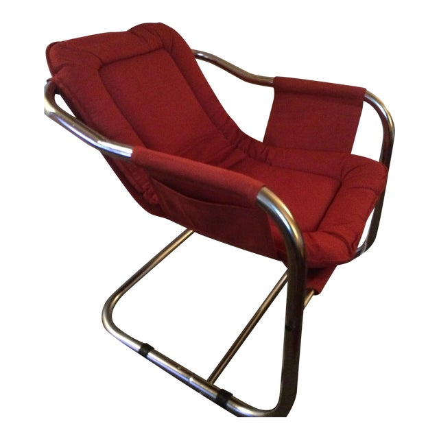 Mid-Century Modern Chrome Chair - Image 1 of 5