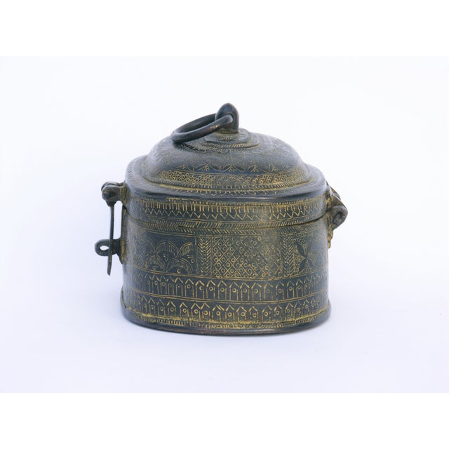 Image of Decorative Engraved Brass Box