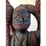 Image of Large Wooden Hanuman God Sculpture