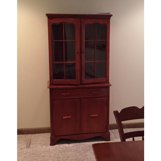 Image of Antique China Cabinet & Hutch