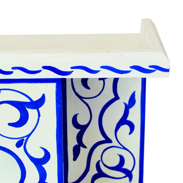 Bleu Majorelle on White Wall Shelf - Image 2 of 3