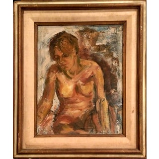 "G. Andrew ""Morose Nude"" Oil Painting"
