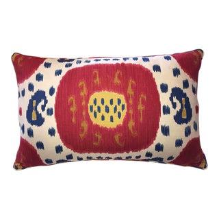 Brunschwig & Fils Samarkand Ikat Bolster Pillow