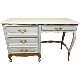 Gray French Provincial Vanity Desk