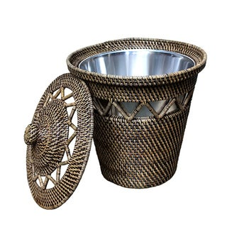 Rattan Basket with Open Weave Design {w/lining}