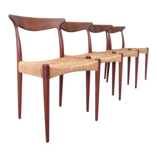 Arne Hovmand Olsen Teak Dining Chairs -Set of 4