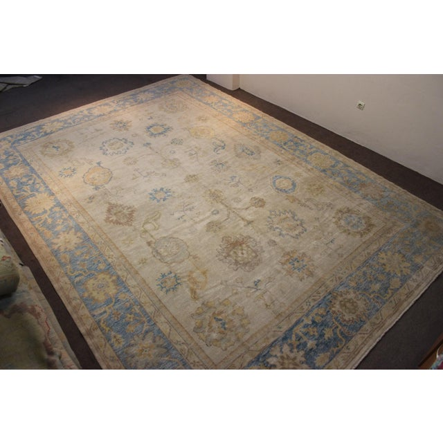Turkish Anatolia Oushak Area Rug - 10' X 14' - Image 5 of 9