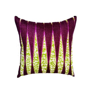 Sample Sale|Purple Wax Print Pillows- a Pair