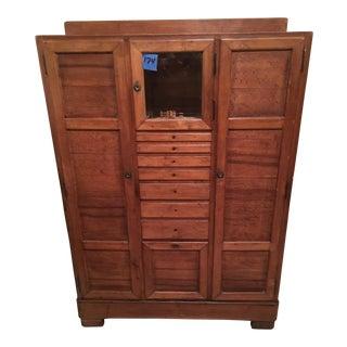 Antique Dental Storage Cabinet