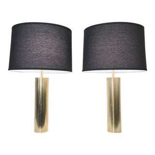 Pair of Brass Lamps by Nessen