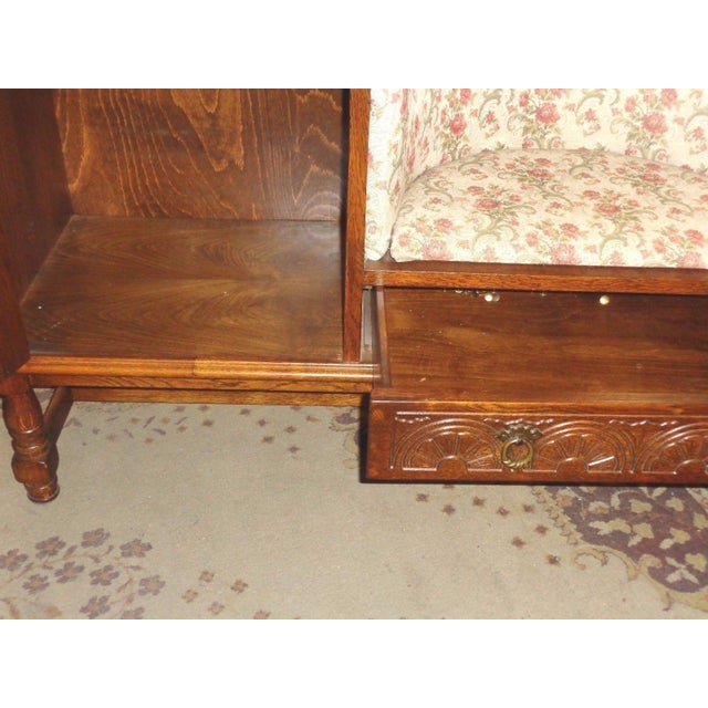 Edwardian Mid-Century Telephone Sofa Bench - Image 11 of 11