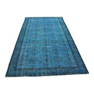 Oriental Turkish Overdyed Rug- 6′ × 9′11″