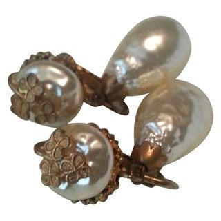Miriam Haskell Pearl Drop Earrings