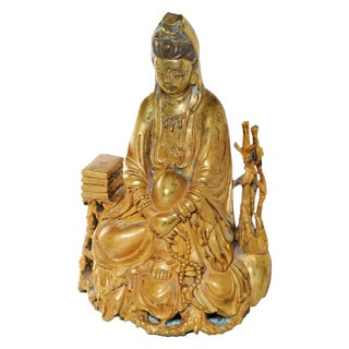 Gilded Bronze Statue of Guanyin of Education