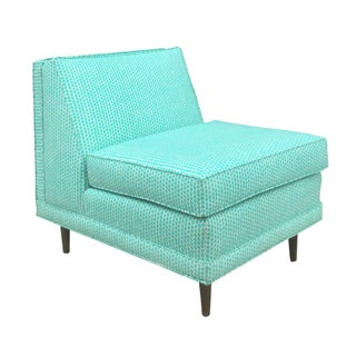 Selig Mid-Century Turquoise Chair