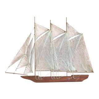 Vintage Sailboat String Art