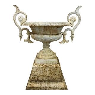 Oversized Antique Iron Urn, 1870
