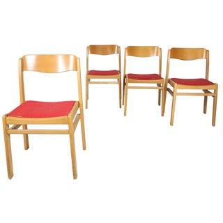 Scandinavian Beechwood Modern Chairs - Set of 4