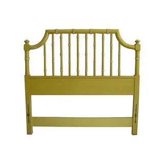 Thomasville Yellow Faux Bamboo Twin Headboard