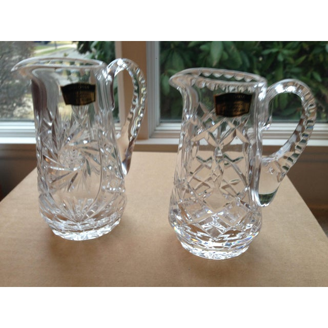 Polonia Lead Crystal Pitcher A Pair Chairish