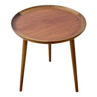 Danish Modern Teak & Walnut Tray Table