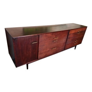 Jens Risom Walnut Long Cabinet