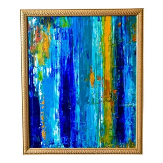 """Water Reflection"" Original Abstract Expressionist Painting"