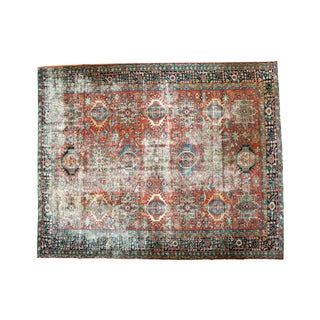 "Distressed Vintage Karaja Carpet - 8'5"" x 10'5"""