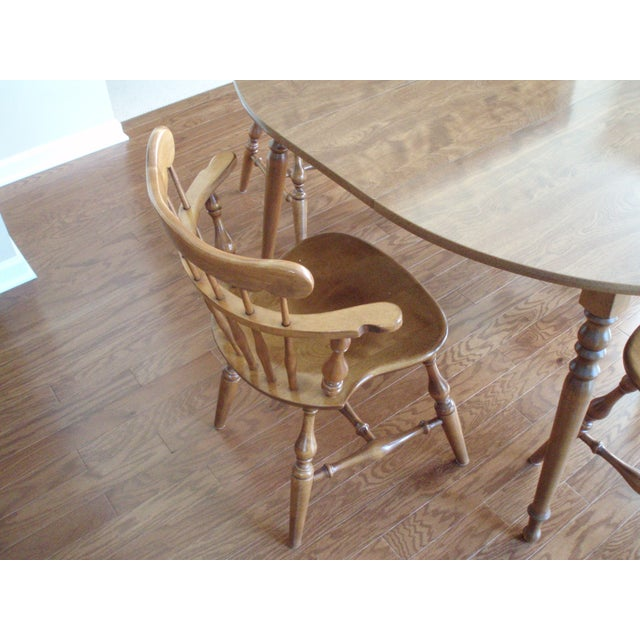 Ethan Allen Solid Wood Dining Table Set - Image 3 of 5