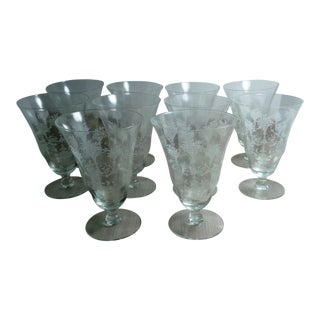 Vintage Morgantown Glass Water Goblets - Set of 10