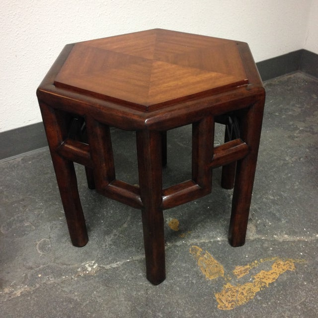 New Bamboo Hexagon Side Table - Image 10 of 10