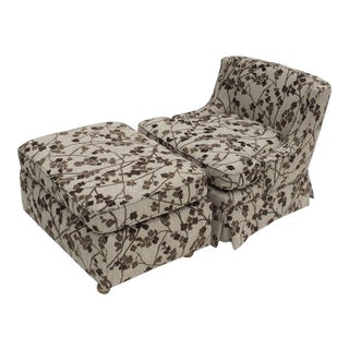 Mid-Century Slipper Chair & Ottoman