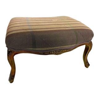Sarreid Ltd Kantha Blanket Upholstered Ottoman